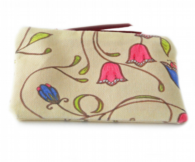 Coin purse in A&C floral design