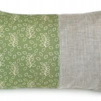 Green leaves lumbar panel cushion
