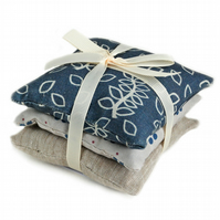 Blue leaves lavender bags
