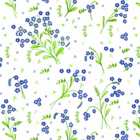 Floral Forget-Me-Not greetings card