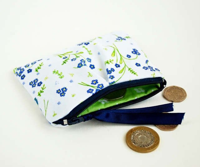 Floral Forget-Me-Not coin purse