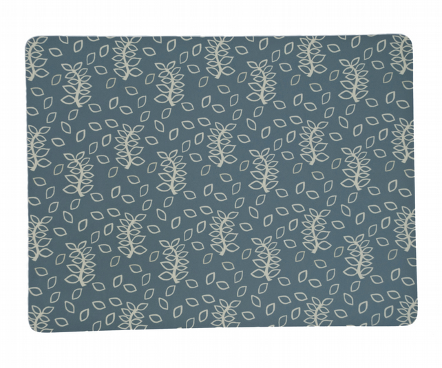 Blue leaves placemats