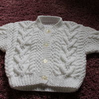 White Hand Knitted Cardigan