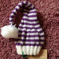 Stripy Stocking Hat Small Newborn Size