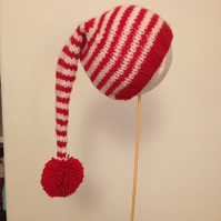 Stripy Stocking Hat 0-3 months