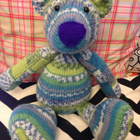 Hand Knitted Teddy Bear