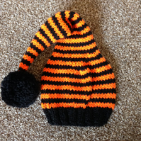 Stripy Stocking Hat 0 - 6 months