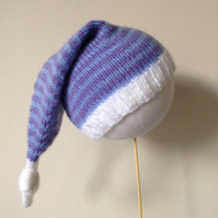 Stripy Elf Hat, 3-6 months