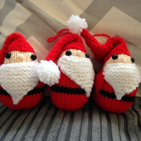 Knitted Santa Decorations