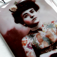 Tattooed Lady - French - Vintage - Glass - Scotland