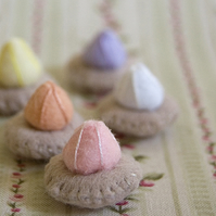 Iced Gems Set of 5 Recycled Felt Food Sculptures