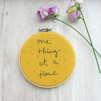 One thing at a time - wall art