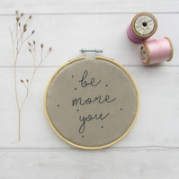 Be more you - motivational quote wall hanging