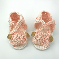 Crochet Baby Girl Sandals, Baby Shoes 0-6 Months, Baby Girl Shoes