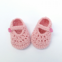 Newborn Crochet Baby Girl Shoes - Pink Baby Shoes