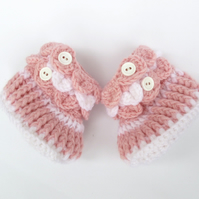Crochet Baby Booties - Baby Girl Shoes