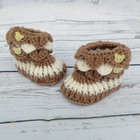 Crochet Baby Booties - Gender Neutral Baby Shoes