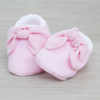 Baby shoe, baby girls shoe, baby shoe girls, baby pink baby shoe with knot bow