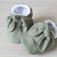 Baby shoe, baby girls shoe, baby shoe girls, Khaki shoe with knot bow