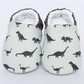 Dinosaur Baby boys shoes, grey baby shoe. pram shoe. booties and crib shoes