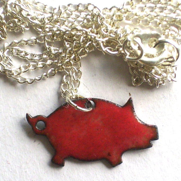 Small pig pendant