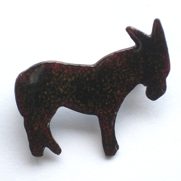 black donkey brooch