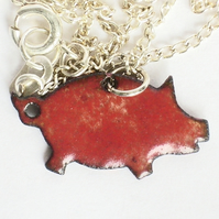 pendant - small red pig