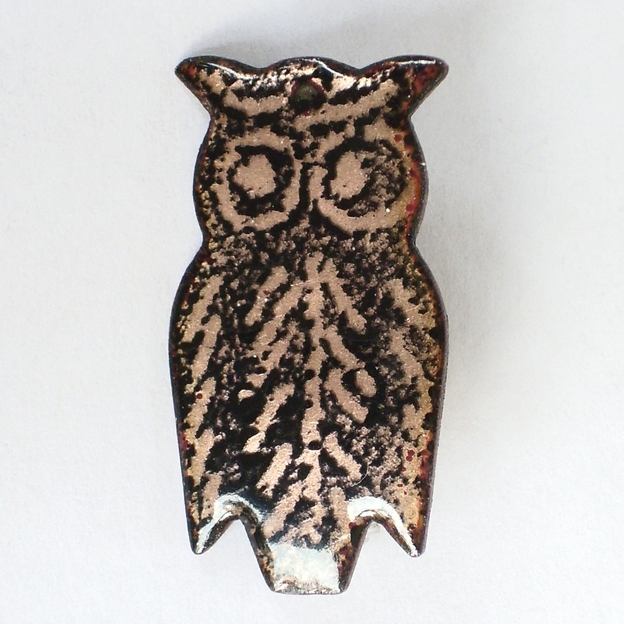 brooch - black owl