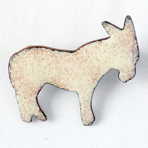 brooch - white donkey No3