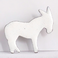 Brooch - White donkey