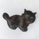black kitten brooch