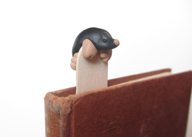 Handmade Mole Bookmark Inspired by British Wild Animals for Nature Lovers