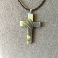 Handmade Polymer Clay Cross Pendant