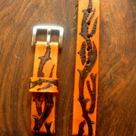 Leather watch strap,handmade.