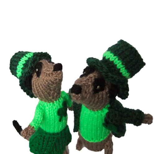 St Patricks Day Meerkat couple