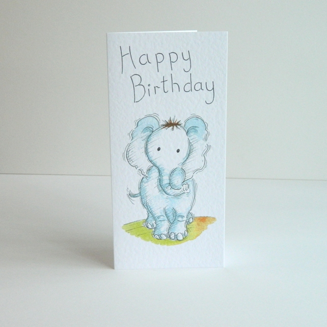 Birthday card - 'Elephant'