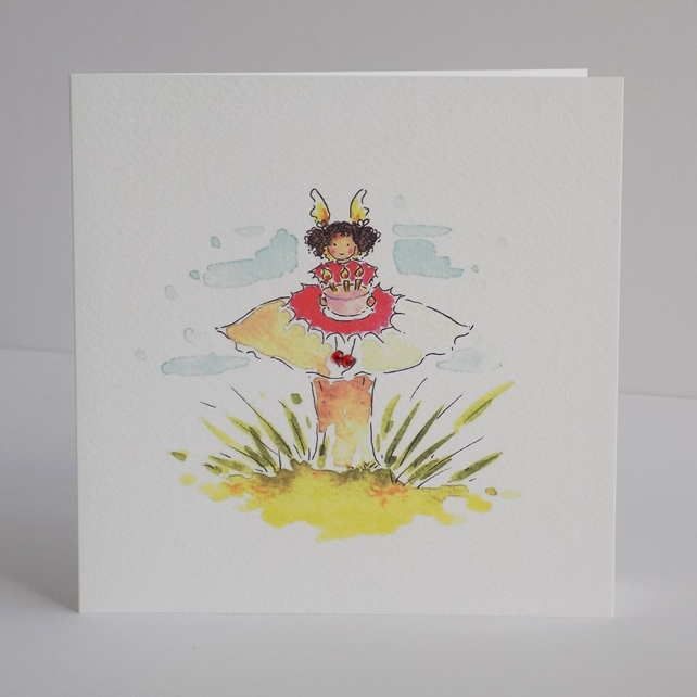 Fairy Toadstool card