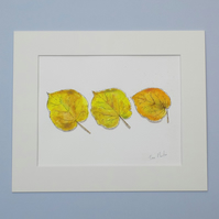 Original Watercolour 'Golden Leaves'