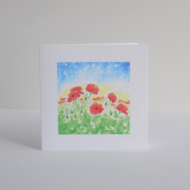 Blank Greeting Card - Poppyfield