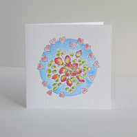 Greeting card - 'Rose buds'