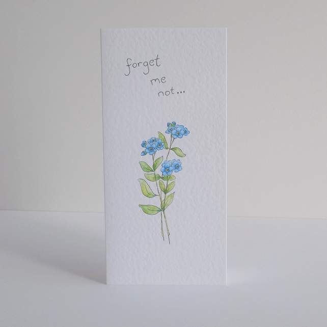 Leaving Card  Forget Me Not