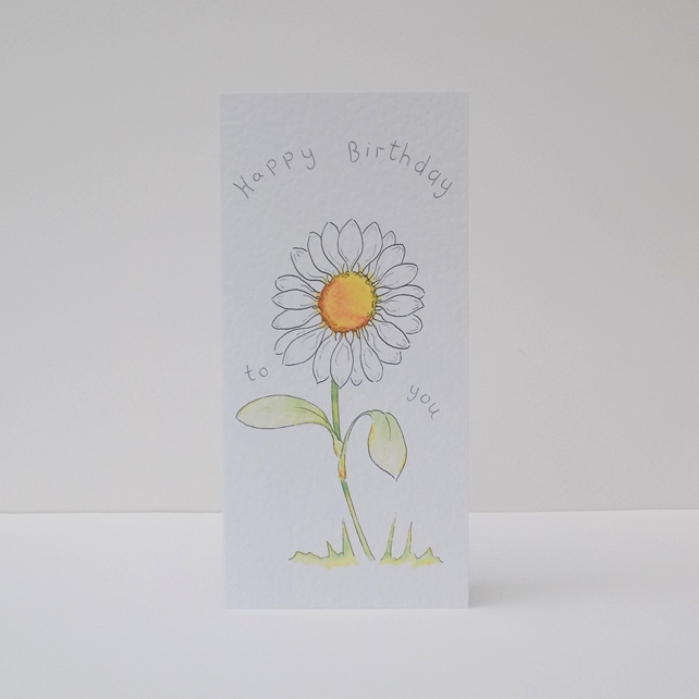 Birthday Card  Daisy