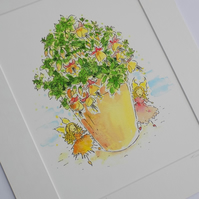 Mounted fairy Print - 'fuchsia fairies'