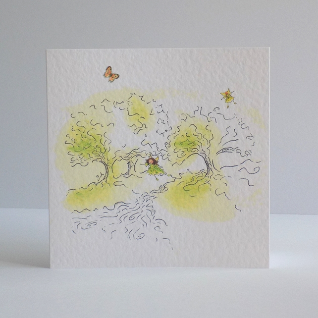 Fairy View Blank Card
