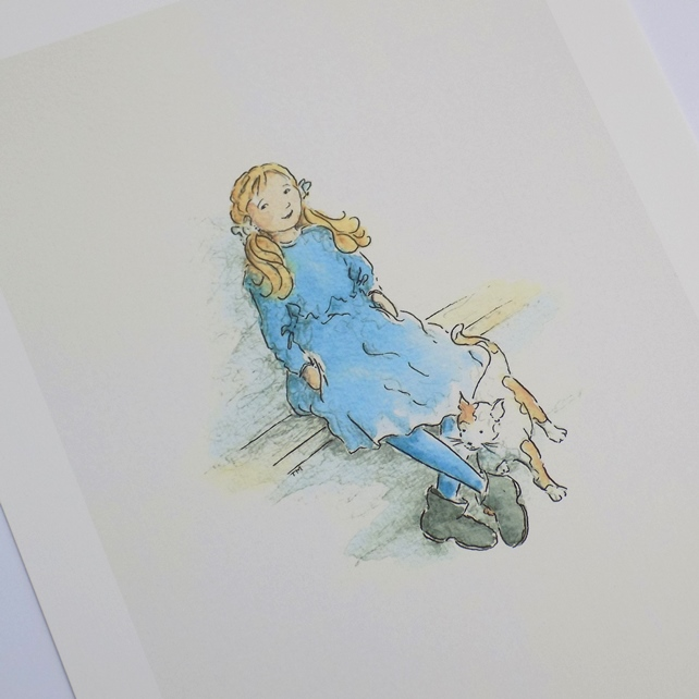 A4 print - 'Little girl blue'