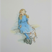 Art print  'Little girl blue'
