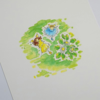 A4 Fairy Print - Grass Fairies