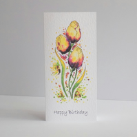 Birthday Card  Tulips