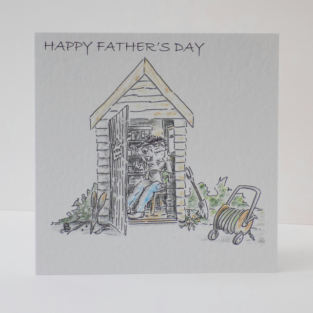 Father's Day Card  Shed