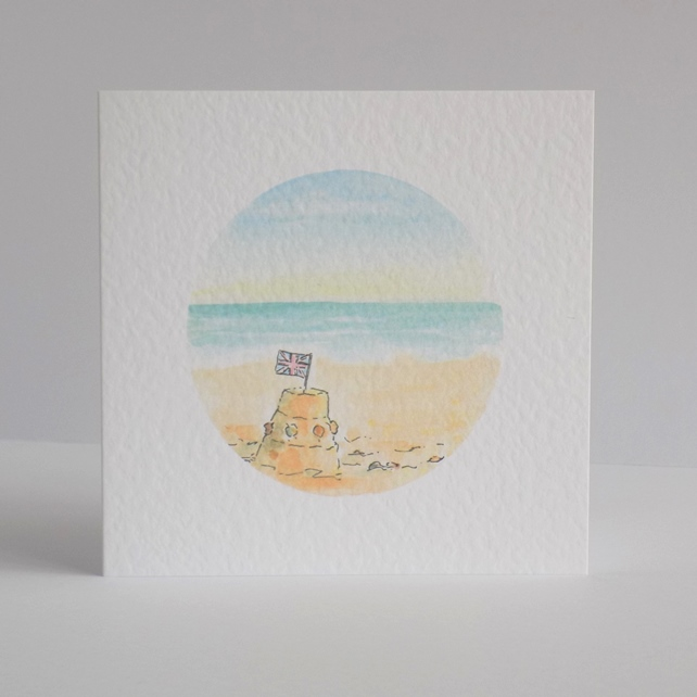 Sandcastle Blank Greeting Card